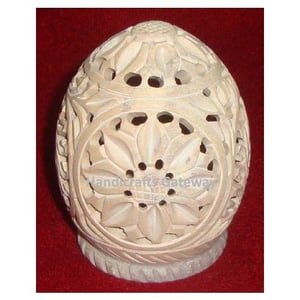 Natural Stone Egg Shape Candle Stand For Home Decor