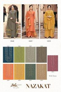 Nazakat By Bela Fashion Viscose Dress Materials Catalogue