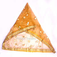 Golden Color Gota Patti Work Bridal Dupatta