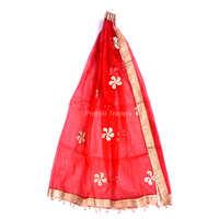 Gota Patti Work Red Color Bridal Dupatta