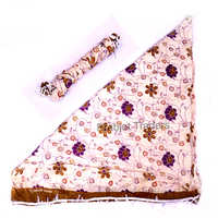 Cotton Printed Tussar Color With Lace Dupatta