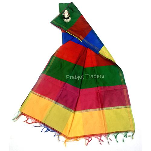 Multicolor Original Taffeta Silk Dupatta
