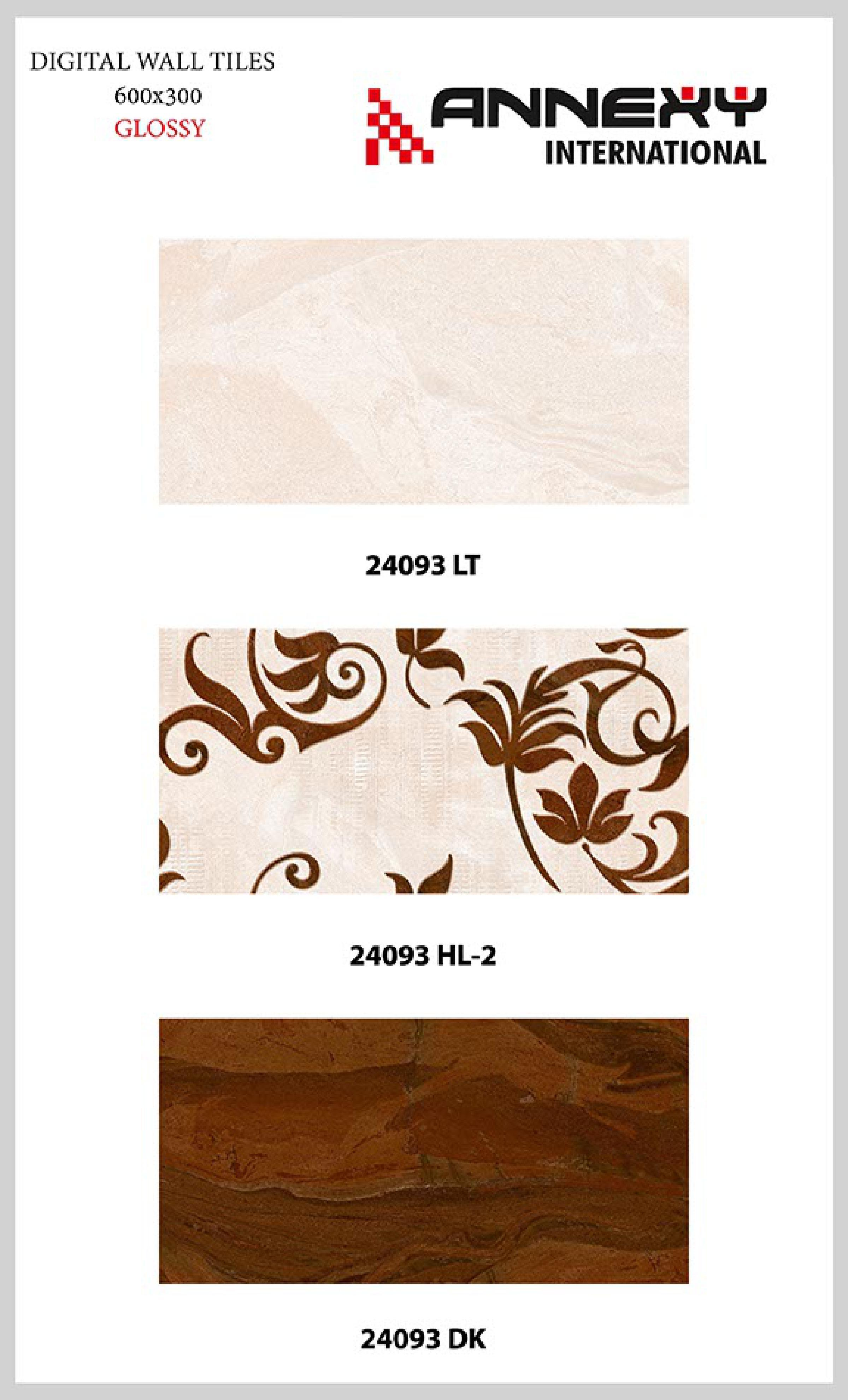 Brown Glossy Finish Tiles 30x60 cm