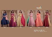 Apsara Vol-2 Triva Silk Long Gown Catalogue