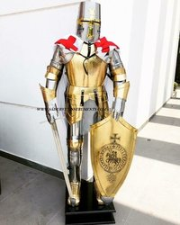 Medieval Knight Full Body Armour Antique Suit Of Armor Knights Christmas Costume