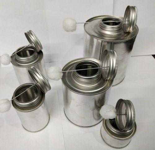 Full range of PVC/CPVC/UPVC Tin cans with dauber