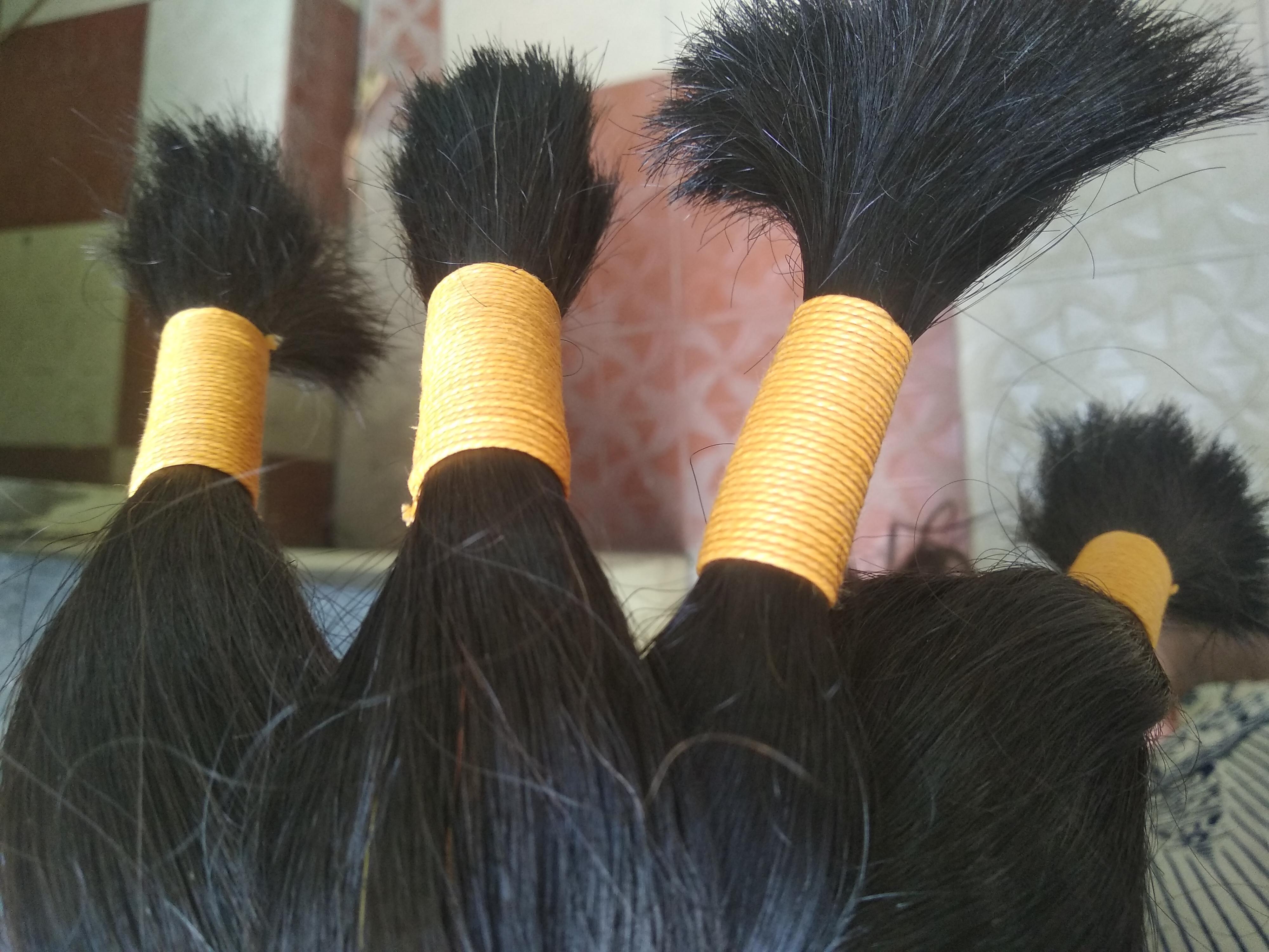 INDIAN VIRGIN SINGLE DRAWN HUMAN HAIR EXTENSIONS