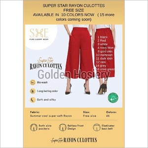 Rayon Culottes