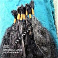 INDIAN VIRGIN GRAY HAIR EXTENSIONS