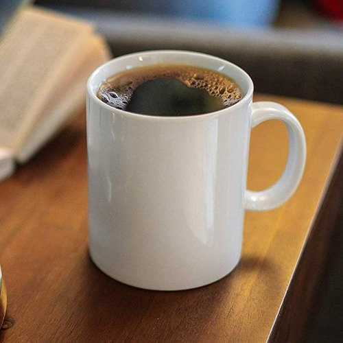 Ceramic Plain White Coffee Mug