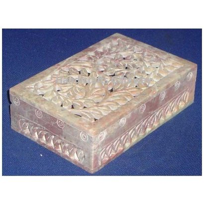 All Soapstone Colors Will Be Vary Natural Stone Carving Jewelry Box For Eid , Birthday Gifts