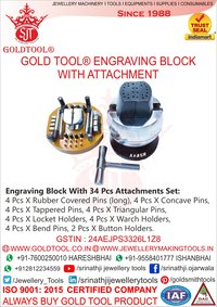 Engraving Block With Attachment Gold Tool