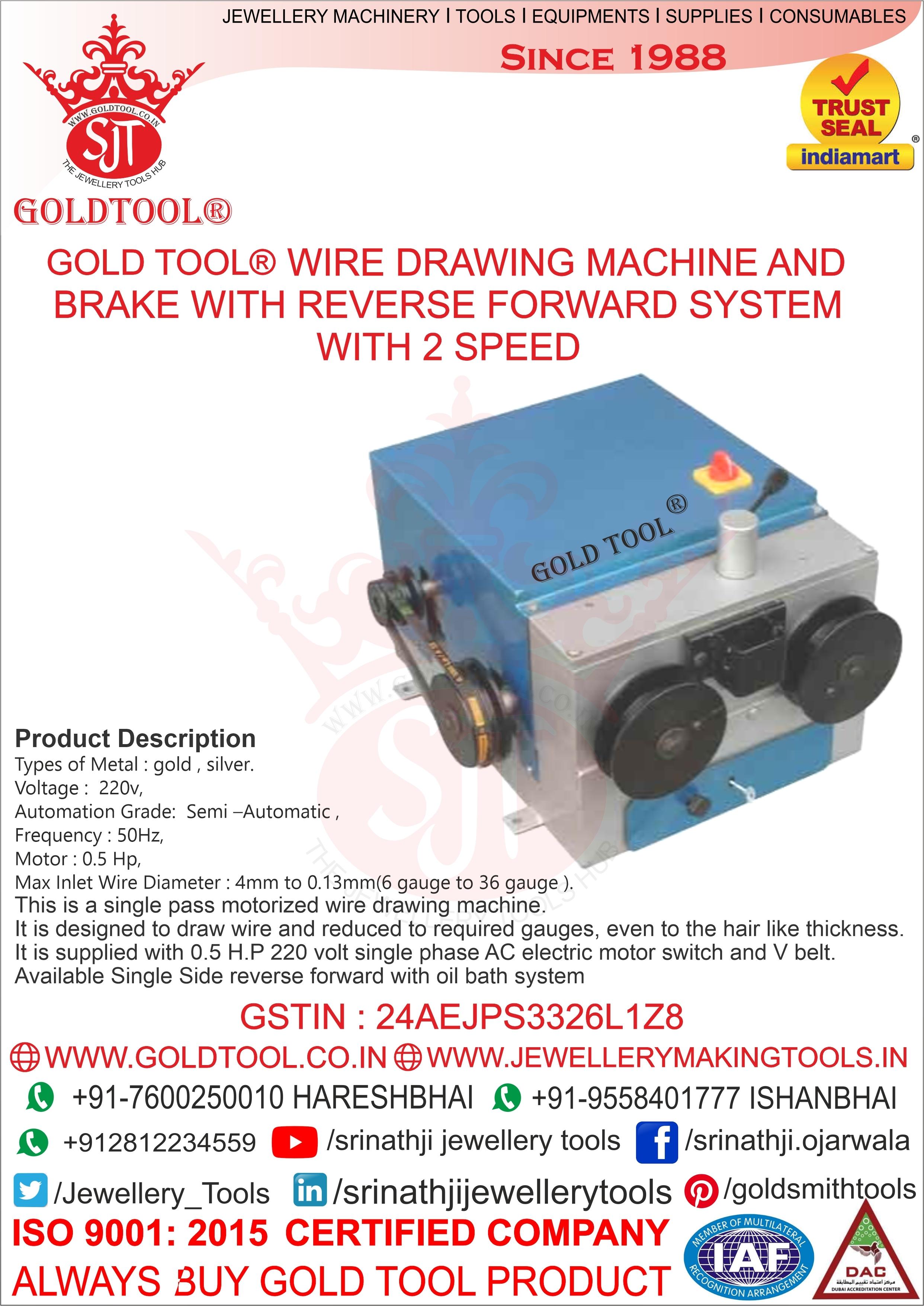 Jewellery Wire Drawing Machine