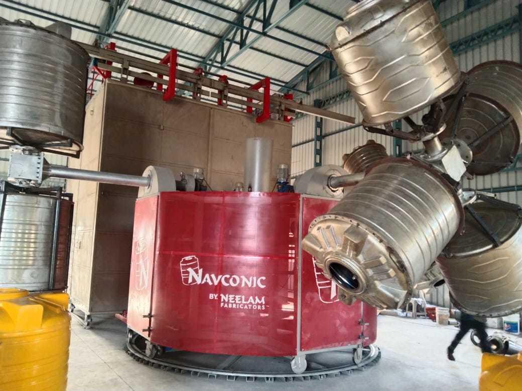 Water Tank Roto Moulding Bi Axial Machine