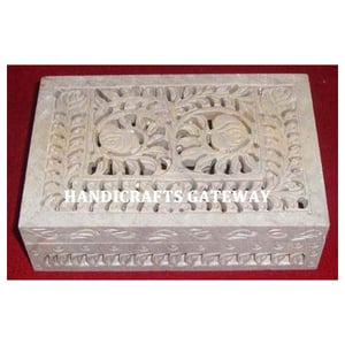 Handmade Natural Soapstone Jewelry Gifts Box