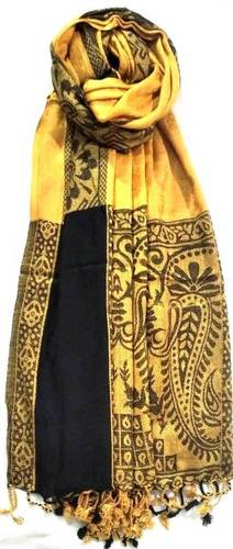 100% Viscose Jamawar Border Design Shawls