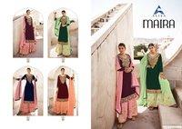 Maira- Plazo Faux Gorgette Long Salwar Suit Catalogue