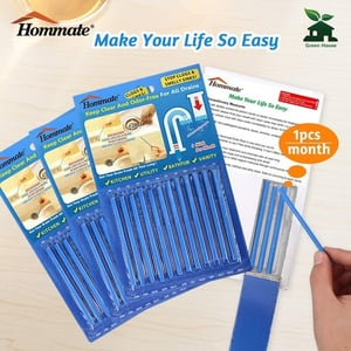 12 Pcs Sani Sticks Drain Cleaner & Odor Remover