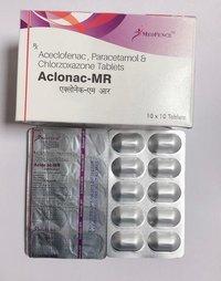 Aceclofenac + Paracetamol + Chlorzoxazone Tablets