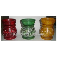 Handmade Colorful Soapstone Aroma Oil Burner