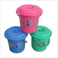 Konark Print Plastic Water Bucket With Cap