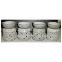Handicrafts Soapstone Aroma Oil Lamp, Stone Hand Carved Aroma Diffuser