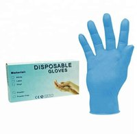 2020 Attractive Price blue disposable nitrile gloves with powder free