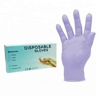 Hot selling Latex free powder free examination medical violet disposable nitrile gloves with cheap price