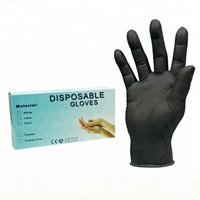 wholesale Disposable Black Powder Free Nitrile Gloves with high quality