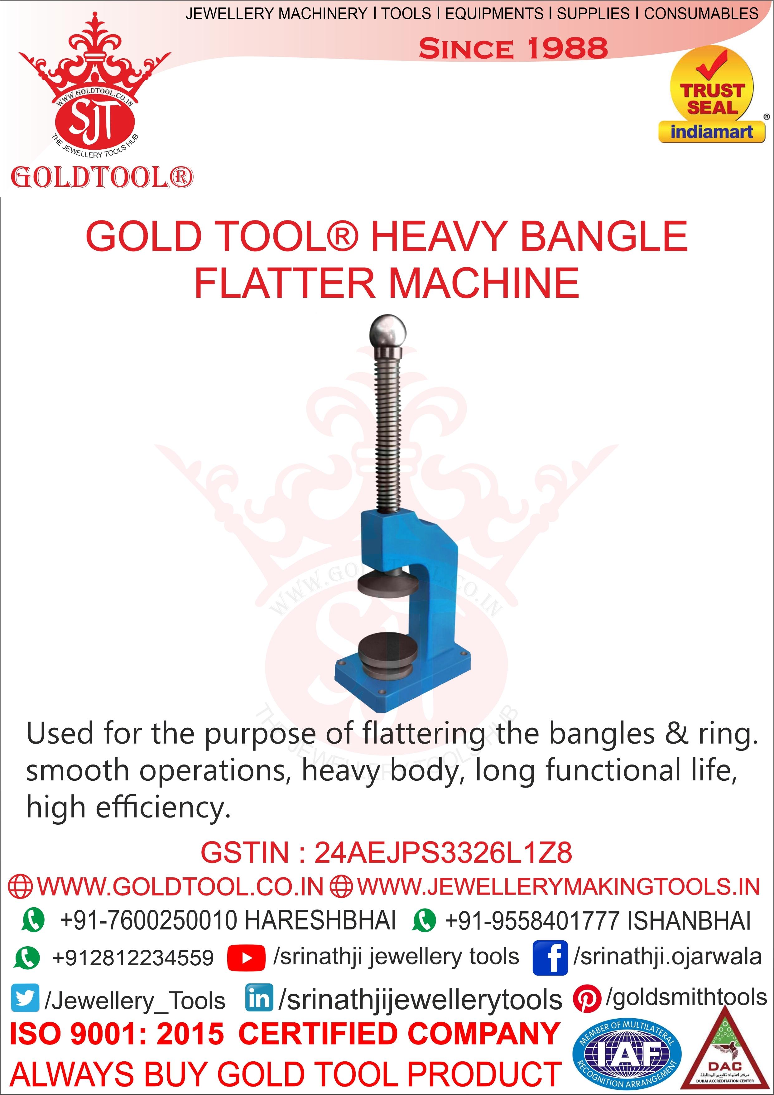 Jewellery Heavy Bangle Flatter Machine