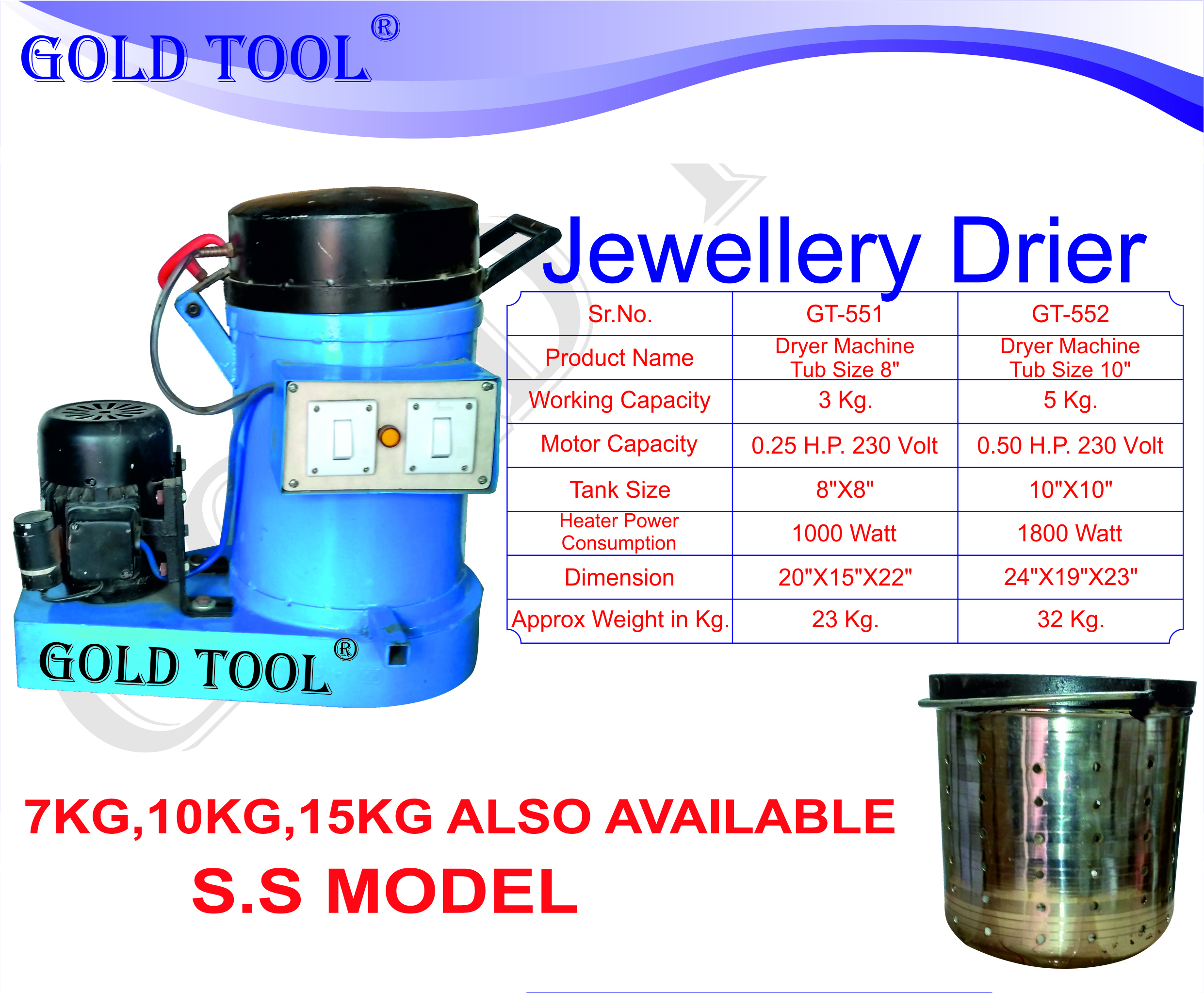 Jewellery Dryer Machine