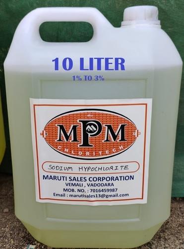 (1% To 3%) 10 Litre Sodium Hypochlorite