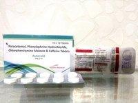 Acetaminophen+Pseudoefedrine Hcl + Chlorpheniramine Maleate Tablets