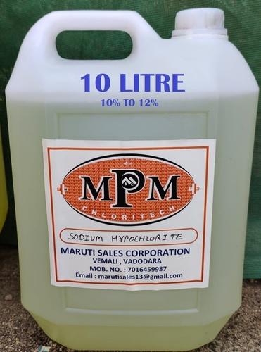 (10% To 12%) 10 Liter Sodium Hypochlorite Solution