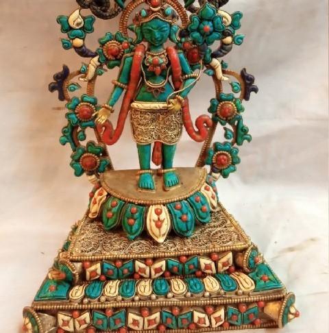 Turquoise Green Tara Statue