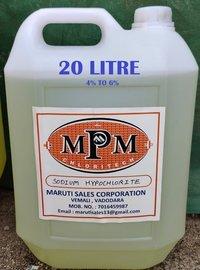 (4% To 6% ) 20 Liter Sodium Hypochlorite Solution
