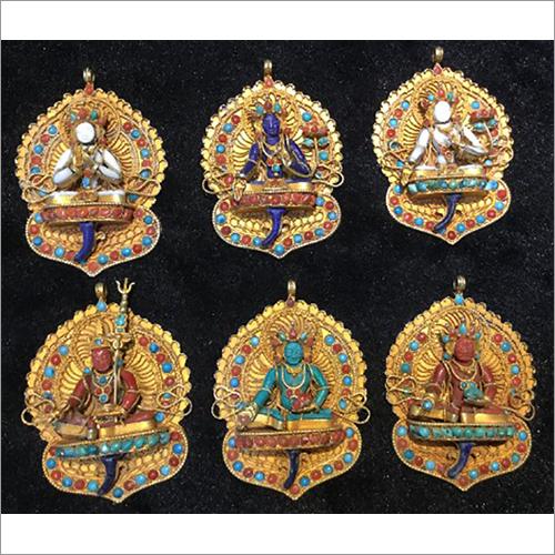Gold Plated Buddhist Pendant