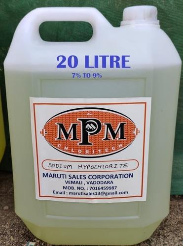 (7% To 9%) 20 Litre Sodium Hypochlorite Solution