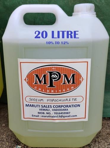 (10% To 12%) 20 Liter Sodium Hypochlorite Solution
