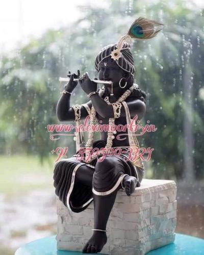 Marble Black Flute Krishnaa Statue
