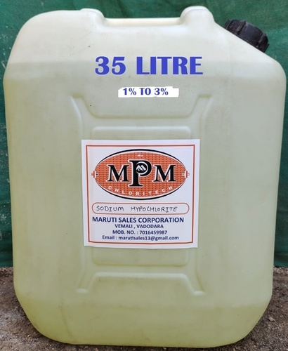 ( 1% To 3% ) 35 Liters Sodium Hypochlorite Solution