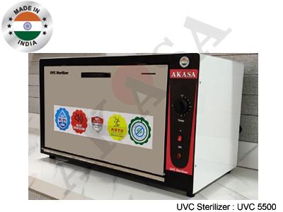 Uvc Sterilizer Cabinet 55Ltr. Application: Disinfection