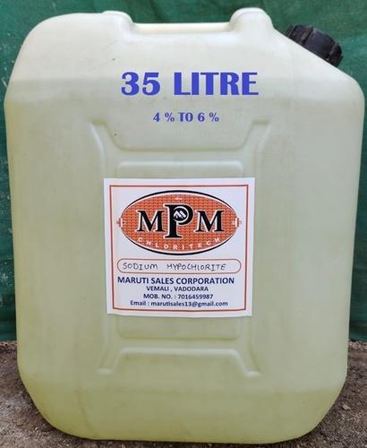 (4% To 6%) 35 Litre Sodium Hypochlorite Solution