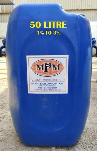 ( 1% To 3% ) 50 Liters Sodium Hypochlorite Solution