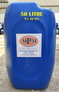(7% To 9%) 50 Litre Sodium Hypochlorite Solution