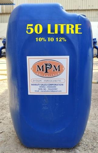 (10% To 12%) 50 Litre Sodium Hypochlorite Solution