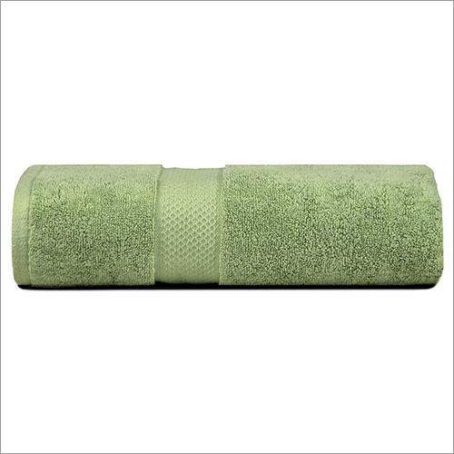 Green Cotton Bath Towel