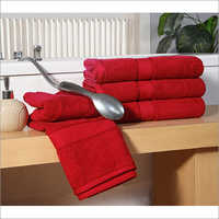Red Double Ply Bath Towel
