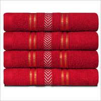 Red Hand Towel Set