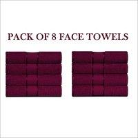 Face Towel Set Pack Of 8 Pcs